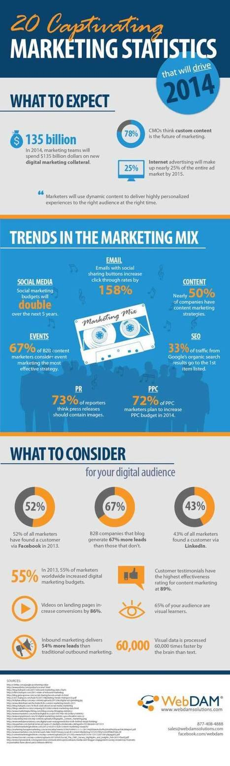 20 Amazing Marketing Statistics That Will Drive 2014 (Infographic) | ten Hagen on Social Media | Scoop.it