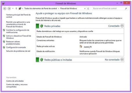 Cómo configurar el antivirus y el cortafuegos en Windows 8 | TIC & Educación | Scoop.it