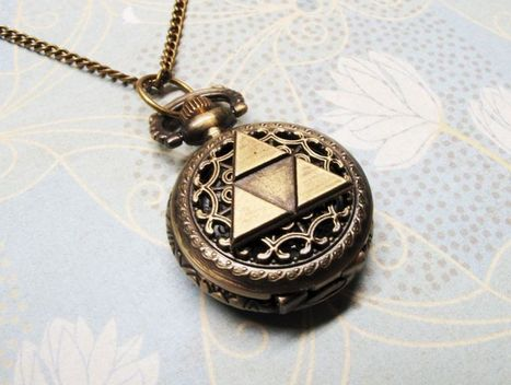 Bronze Triangle Watch Necklace, inspired by Legend of Zelda Triforce | coupons Box | Scoop.it