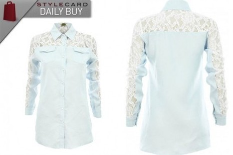 Daily Buy: Spoiled Brat Lace Insert Denim Shirt | StyleCard Fashion Portal | StyleCard Fashion | Scoop.it