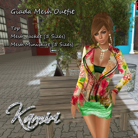 Giada Mesh Outfit Group Gift by Kamiri | Teleport Hub - Second Life Freebies | Second Life Freebies | Scoop.it