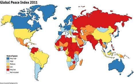 HISTOIRE-GEO - La carte de la paix dans le monde (UneCarteDuMonde) | La Longue-vue | Scoop.it