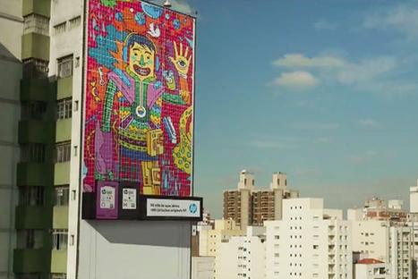 Au Brésil, HP fait du street-art en imprimant sur la façade d'un immeuble ! | CULTURE PUB WORLD | Scoop.it