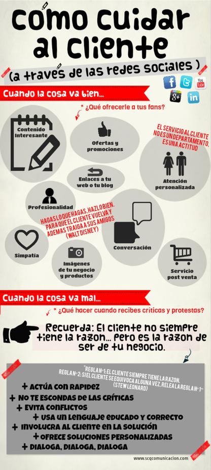 Cómo cuidar a tus clientes con Redes Sociales #infografia #infographic #marketing #socialmedia | juancarloscampos.net | Scoop.it
