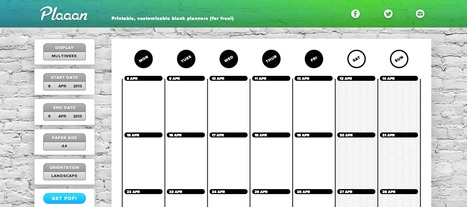 Plaaan - Nice looking calendars for you to print :) | IKT och iPad i undervisningen | Scoop.it
