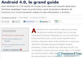 Le site du jour : Android 4.0, le grand guide | mlearn | Scoop.it