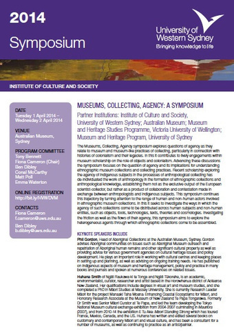 Museums, Collecting, Agency Symposium | Material World | Museums | Scoop.it
