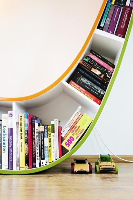 Curved Bookcase by Atelier 010 - Bookworm | Captivatist | İnterior Designer and Feng Shui Master | Scoop.it