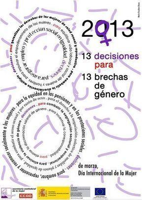 Cartel día de la mujer . CCOO.   DÍA INTERNACIONAL DE LAS MUJERES   Scoop.it