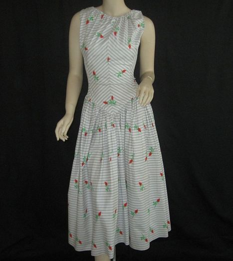 Vintage 1950's Halter Party Sundress ~ Cole of California | All About Vintage | Scoop.it