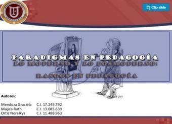 PARADIGMAS EN PEDAGOGÍA. | Educacion, ecologia y TIC | Scoop.it