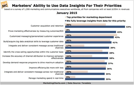 Are Marketers Leveraging Data-Driven Insights For Their Top Priorities? - Marketing Charts   Designing  service   Scoop.it