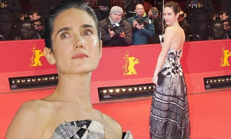 Jennifer Connelly wears monochrome Chanel couture dress to the Berlin Film ... - Daily Mail | FASHION & CUTURE | Scoop.it
