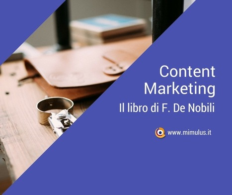 Strategie di Content Marketing, un libro di Francesco De Nobili | Digital Friday by Mimulus | Scoop.it