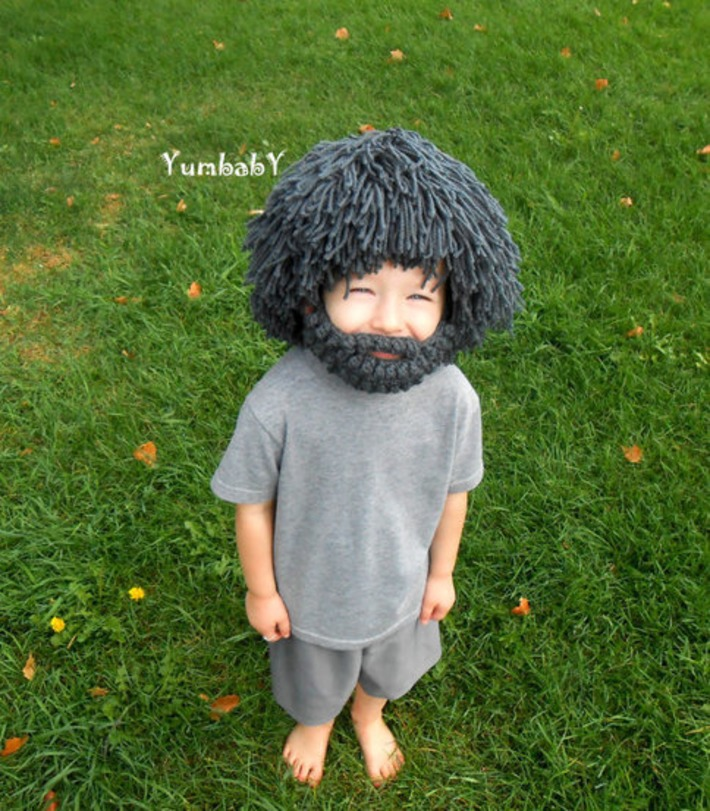 Wig Beard Hat- Halloween Costume- Any Color- Hobo- Mad Scientist- Rasta- Caveman- Boys Halloween Costume | Kitsch | Scoop.it