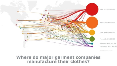 Mapping Fashion Wages, Where do major garment companie manufacture their clothes? | Wages | Scoop.it