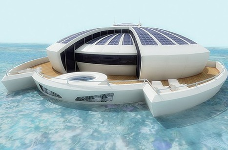 Floating photovoltaic island concept lets you relax below the waves | Sustainable Energy | Scoop.it