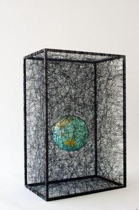 Chiharu Shiota: State of Being (globe) | Art Installations, Sculpture, Contemporary Art | Scoop.it