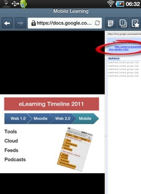 glearning blog: Using your mobile phone and google presentations for giving presentations | Moodle and Web 2.0 | Scoop.it