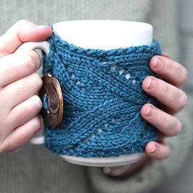 Fancy Mug Cozy pattern by Kirsten Hipsky | Knit-of-the-Month Club | Scoop.it