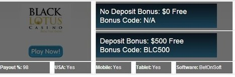 Black Lotus Casino Review and Bonus Codes : No Deposit Casinos 247 | I like black lotus free spins | Scoop.it