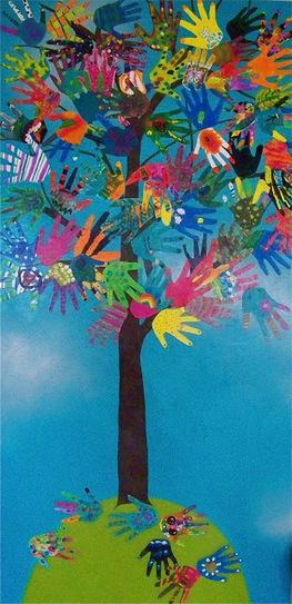 the HAND TREE -Collaborative Hand Art- | Manualidades | Scoop.it