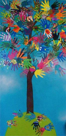 the HAND TREE -Collaborative Hand Art- | Educación infantil | Scoop.it