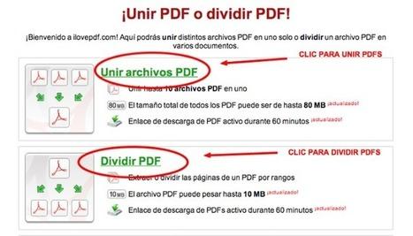 Cómo unir o dividir PDFs online | Las TIC en Ciencias de la Salud | Scoop.it