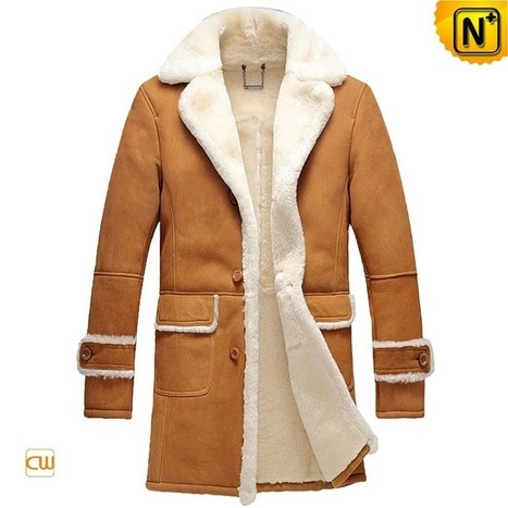 CWMALLS® Shearling Leather Trench Coat CW878604 | Leather Trench Coat | Scoop.it