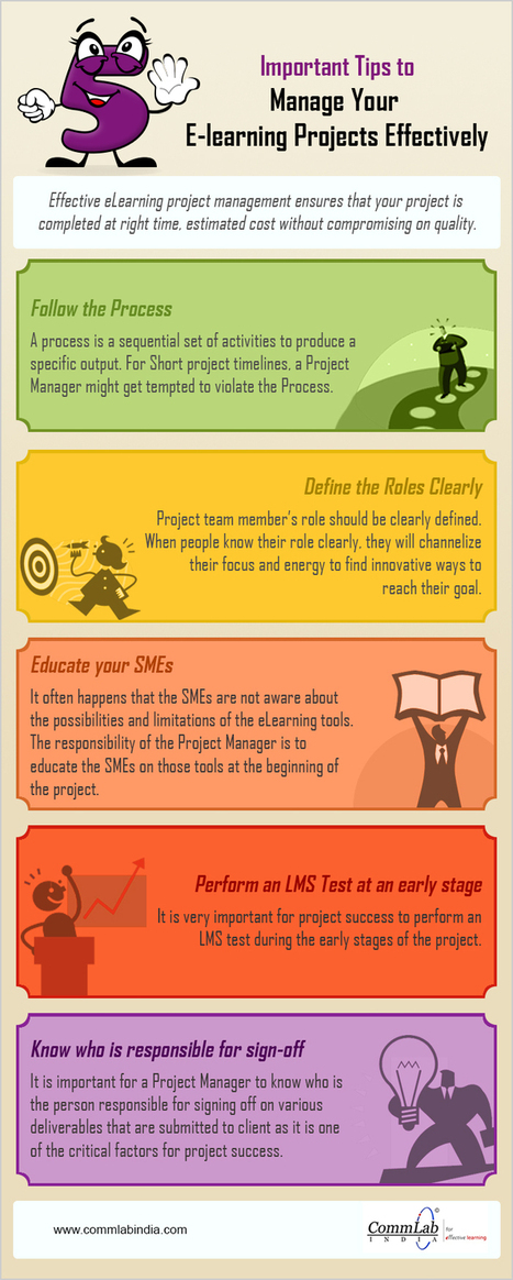 Important Tips to Manage Your E-learning Projects Effectively – An Infographic | Learning Technology and Higher Education | Scoop.it