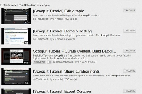 scoop.it tutorials - YouTube | Social Media and its influence | Scoop.it