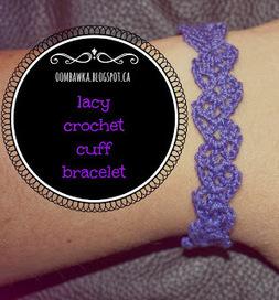 Lacy Crochet Cuff Bracelet - Free Crochet Pattern | how to read crochet pattern and the best quality yarn for crochet | Scoop.it