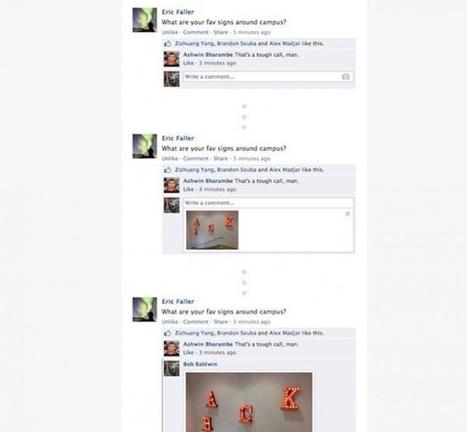 Facebook permite incluir fotos en los comentarios   Aprendiendo a Distancia   Scoop.it