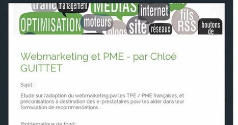 Webmarketing et PME - par Chloé GUITTET | Webmarketing | Scoop.it
