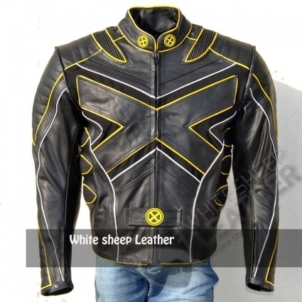 X Men 3 Leather jacket leather jacket wolverine Last Stand motorcycle Leather Biker Jacket With CE Armour protection | movie leather jackets | Scoop.it