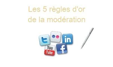 Les 5 règles d'or de la modération sur les réseaux sociaux | Social Media Marketing - Sarah Rumeau | Scoop.it