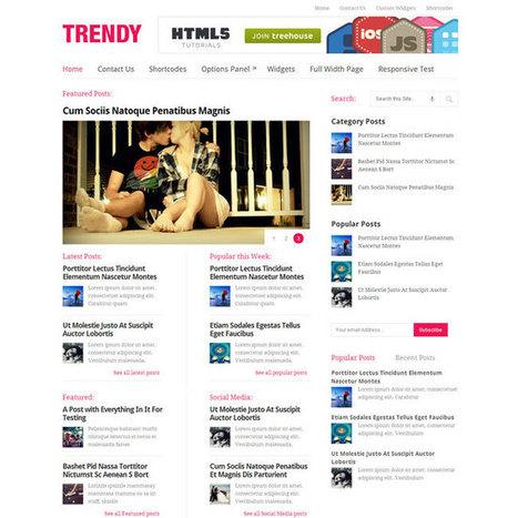 Trendy WordPress Theme | WordPress Theme Download | Socializing | Scoop.it