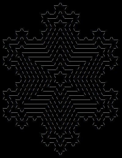 hexagonal fractal | ASCII Art | Scoop.it