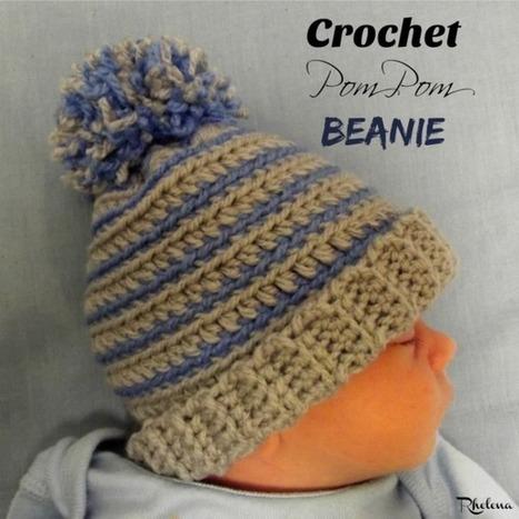 Crochet Pom Pom Beanie - CrochetN'Crafts | Free Crochet Patterns | Scoop.it