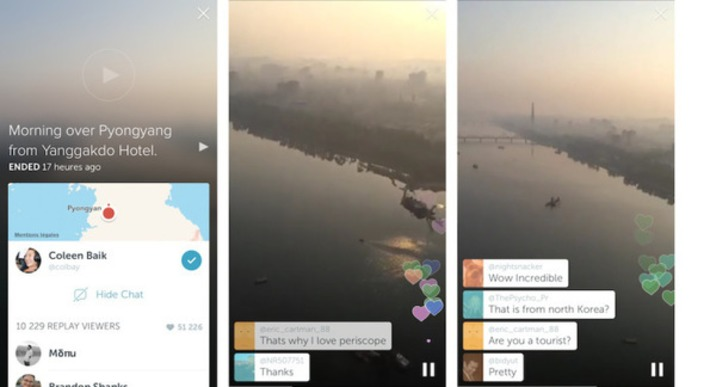 "Periscope s'invite à Pyongyang | Veille Techno et Informatique ""AutreMent"" 