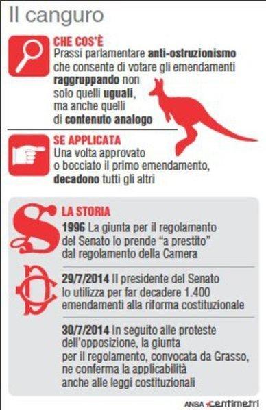 Riforme, in Senato passa il canguro. Opposizioni su barricate - Politica - ANSA.it | Social Media Consultant 2012 | Scoop.it