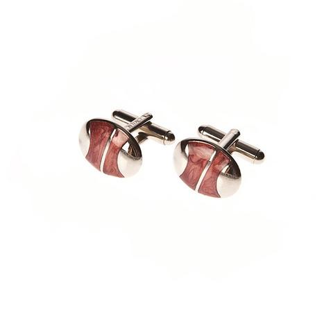 Gemello Piacemolto®, realizzato artigianalmente in Italia. Colore rosso e forma ovale. | Camicie uomo su misura....consigli, curiosità e molto altro | Scoop.it