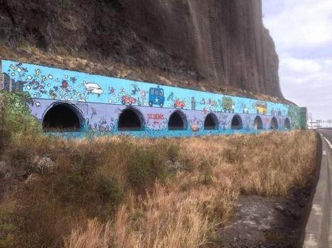 Fresque du tunnel de la route du littoral by Jace   Ile de La Réunion   Scoop.it