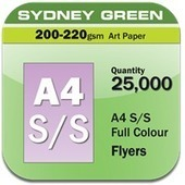 1 Page A4 Flyers 200gsm Sydney Green 25000   Online Printing Services   Scoop.it