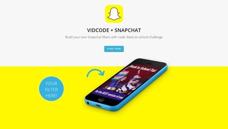 Apprendre à coder en créant un filtre Snapchat - Blog du Modérateur | L'e-Space Multimédia | Scoop.it