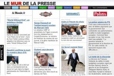 Toute la presse sur une page Web, Le Mur de la presse | Ballajack | Ma boîte à outils | Scoop.it