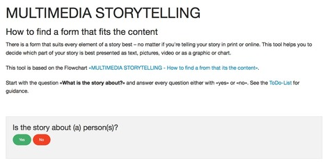 Tool: MULTIMEDIA STORYTELLING - How to find a form that fits the content | formation JRI - Journaliste reporter images | Scoop.it