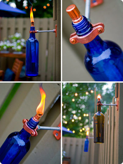 diy project: erik's recycled wine bottle torch   Design*Sponge   Waterproofing material   pvc water stop Mumbai   Scoop.it