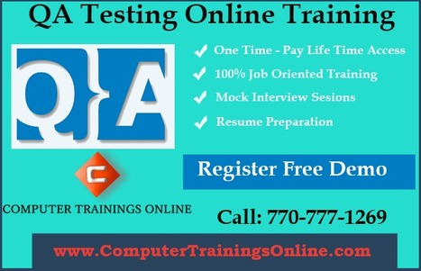 QA Testing Training and Placement | Software QA Testing Online Training | Scoop.it