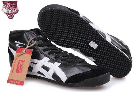 Mens Onitsuka Tiger Mexico 66 Trainers High Top Black White Shoes | popular and new list | Scoop.it